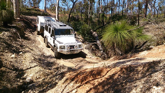 Learn from Perth advanced driver trainer Glynn Williams how to effectively and safely pull a caravan off-road with your four-wheel drive.